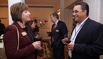 Noam Maoz, director ejecutivo de CityShob, invitado especial a la recepción de la cena del embajador de los Estados Unidos, David Friedman